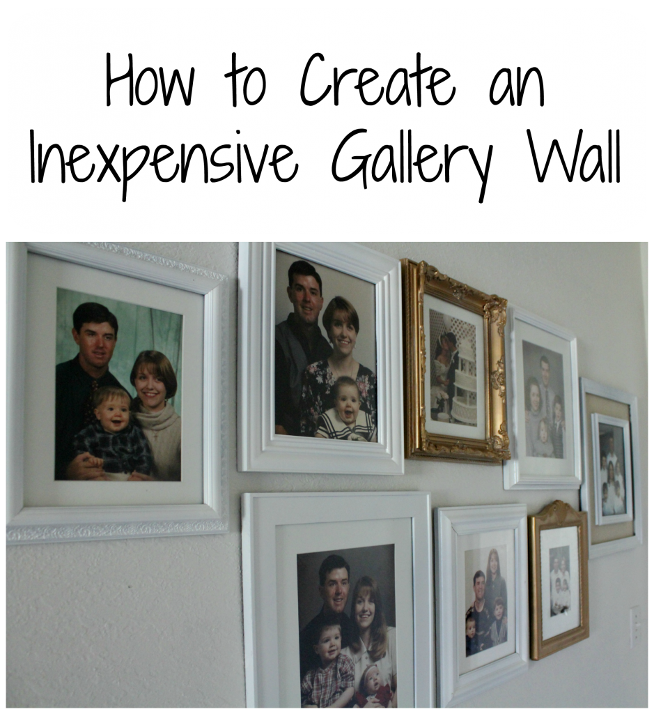 How to Create an Inexpensive Gallery Wall