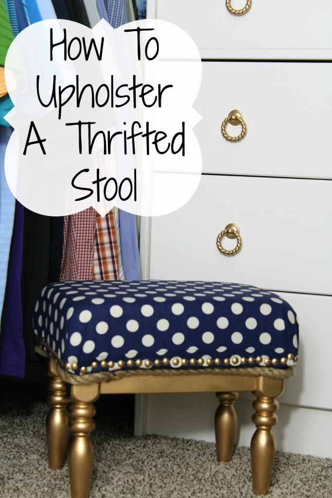 Upholstered Thrifted Stool