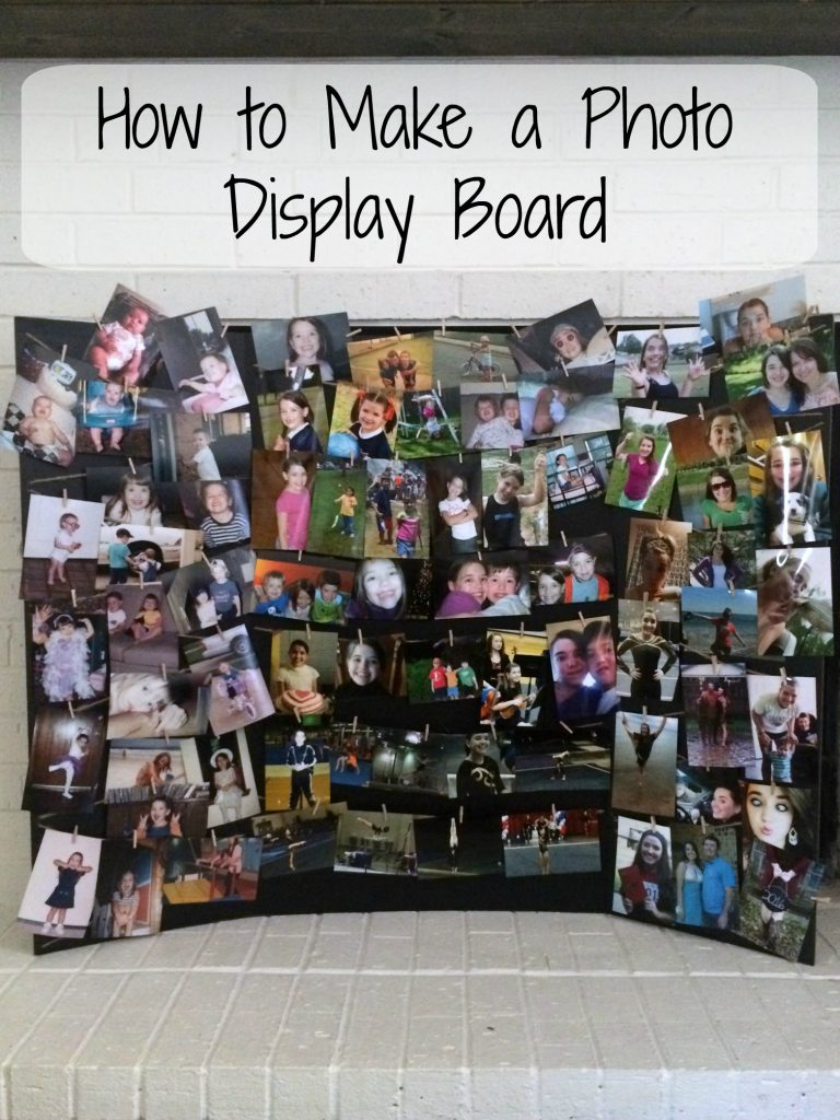 how to make a photo display board