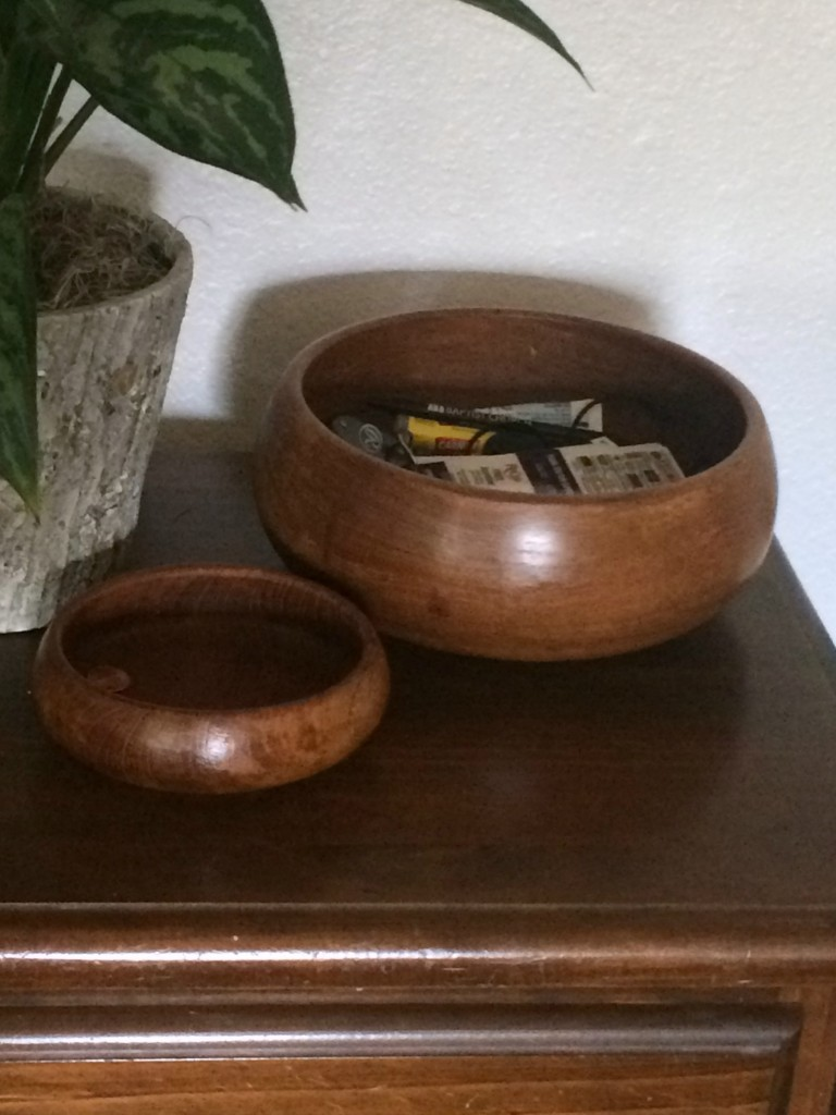 wooden bowls for storage