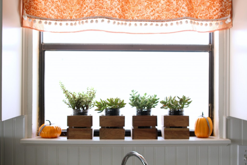 dollar-store-pumpkins-in-kitchen