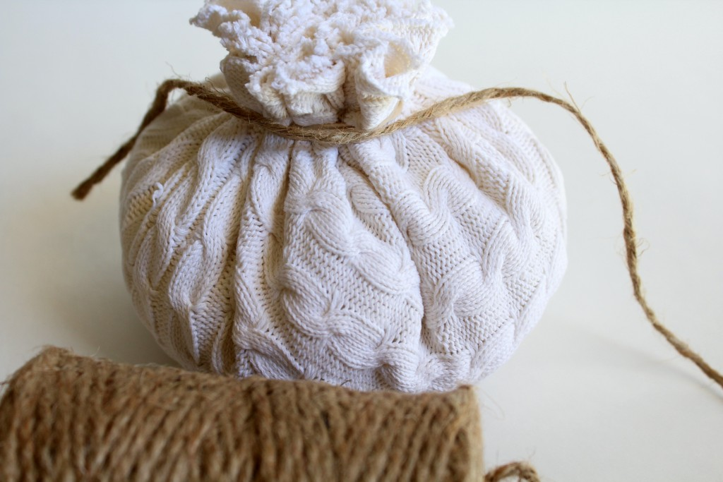 DIY no sew pumpkin