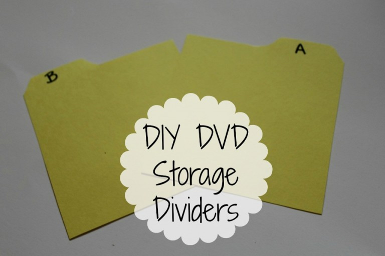 Easy DIY tabe dividers for DVD and CD storage.