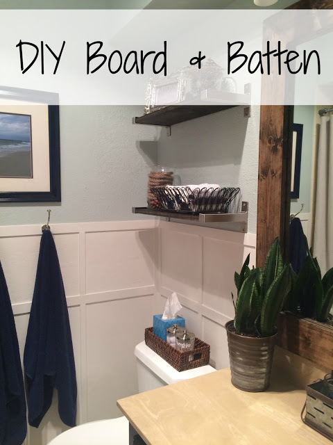 DIY board & Batten can dress up any plain wall space.