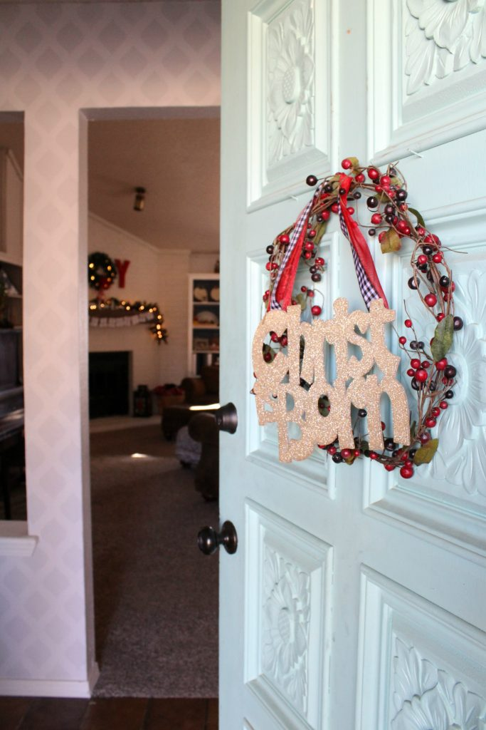 Welcome and come on in to see our home decked out for Christmas