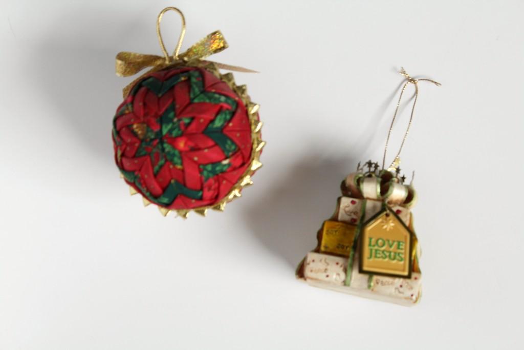 Hand-made and favorite Christmas ornaments