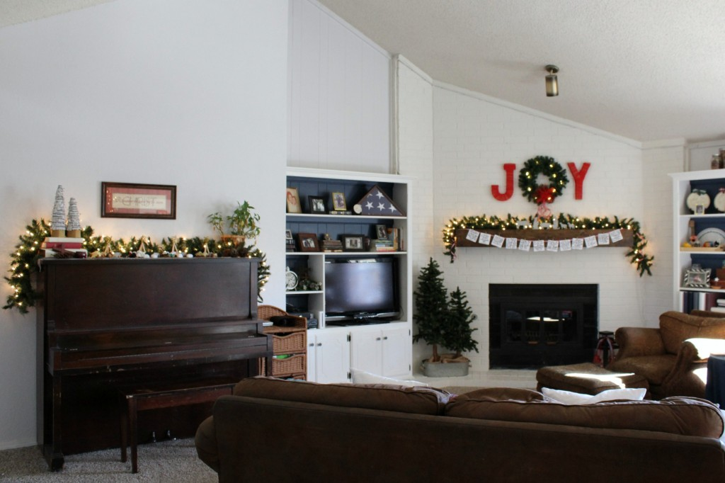our family room at Christmas