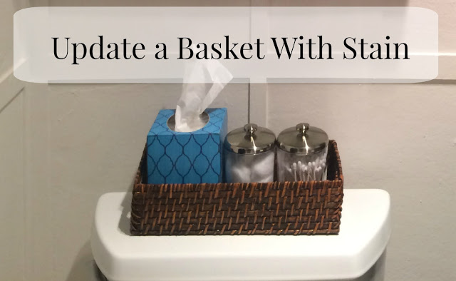 Don't like the color of your basket? Change it up with some stain.