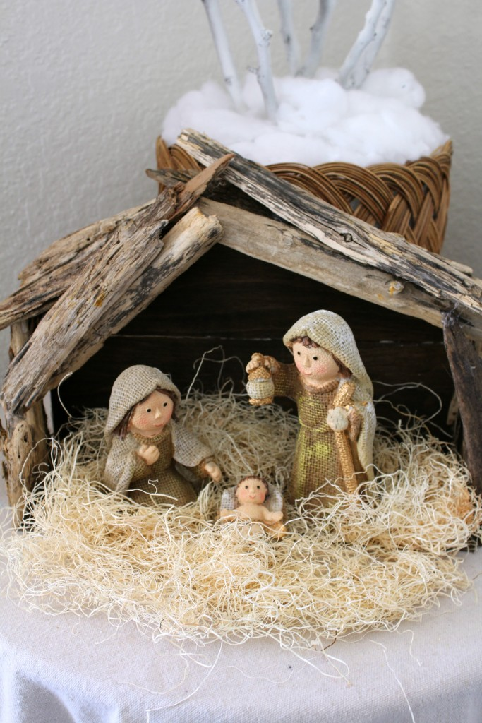 nativity with driftwood creche