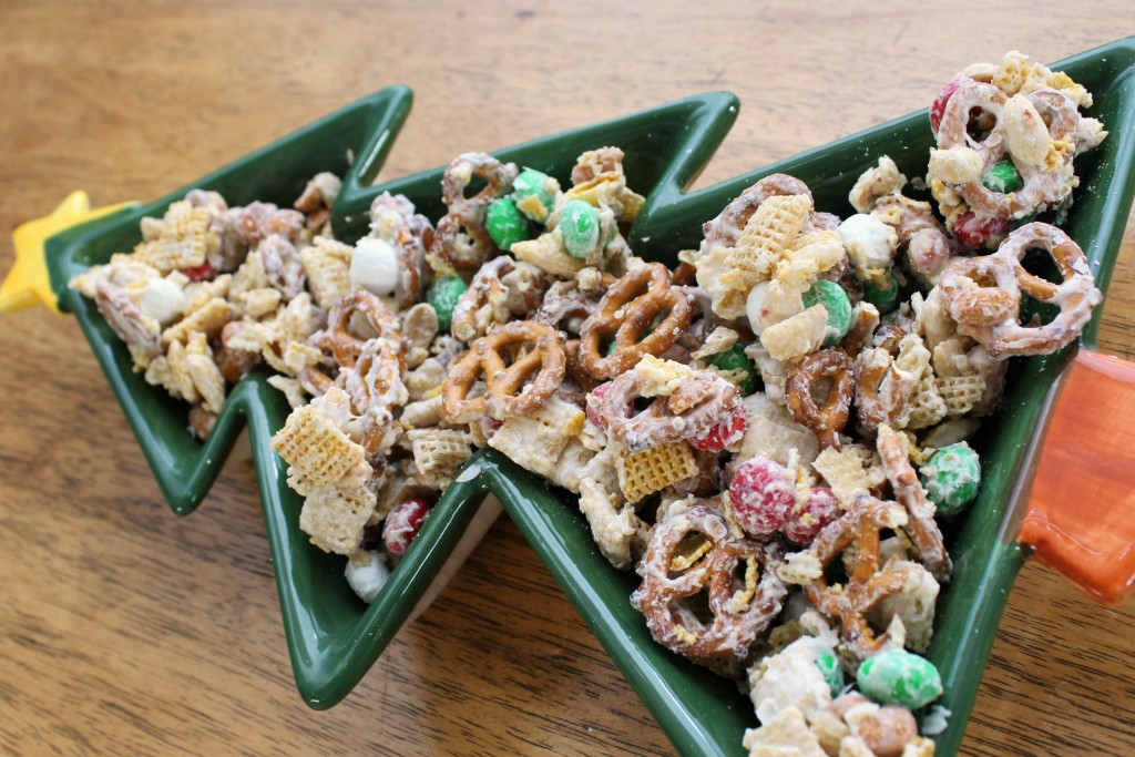 White chocolate chex mix is an easy to make Christmas treat!