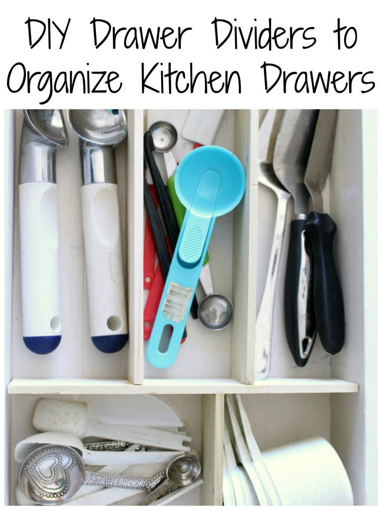 DIY Drawer Dividers to Organize Kitchen Drawers