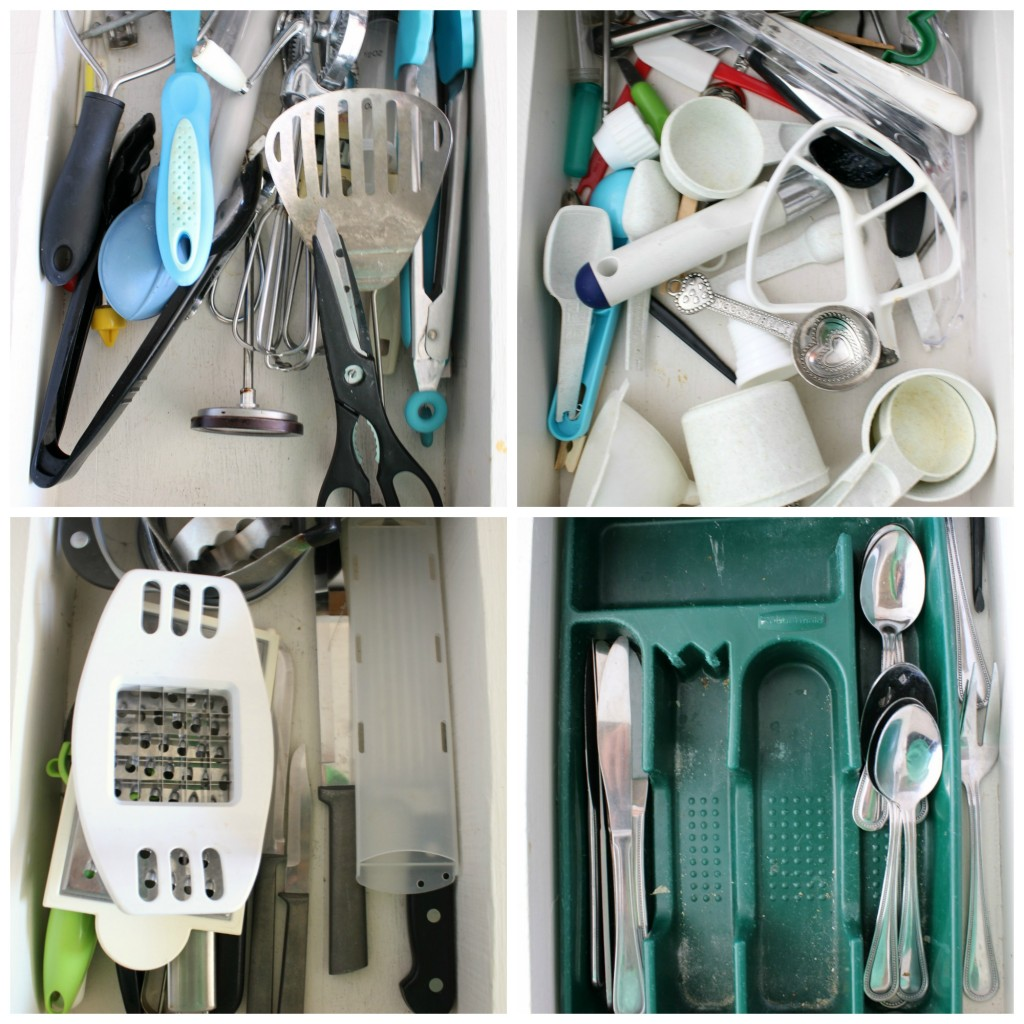 Without any organization, kitchen drawers can get junky and out of control.