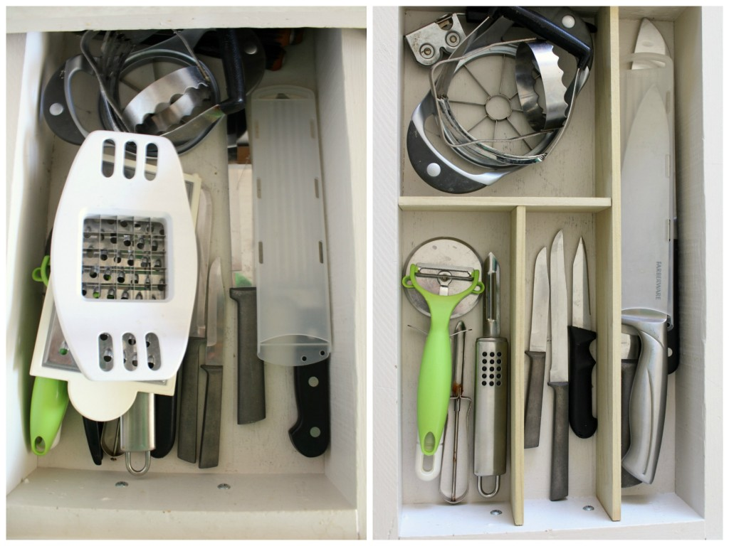 knife drawer before and after