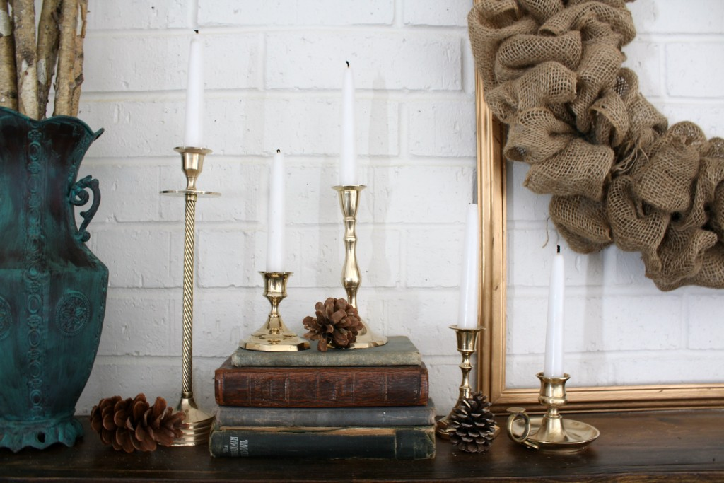 Thrifted brass candlesticks can shine again with just a little bit of elbow grease.