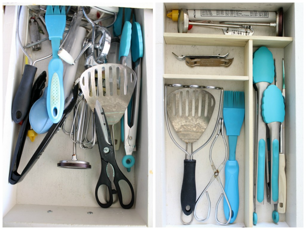 utensil drawer before and after