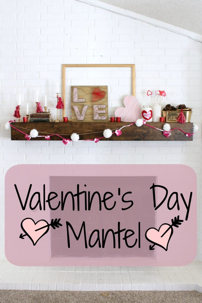 This mantel got a good dose of LOVE in the form of red pink and hearts!