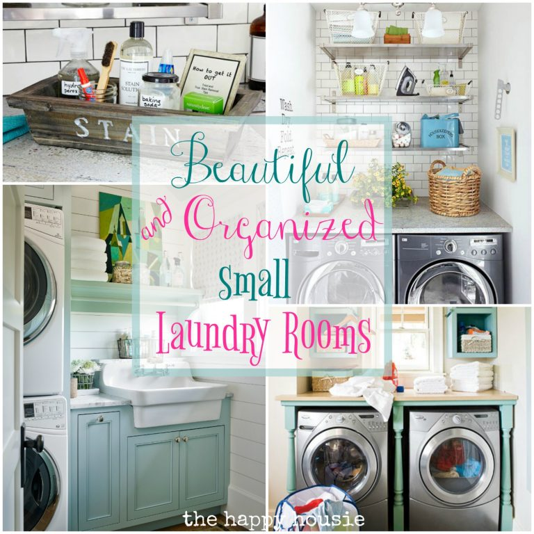 beautiful and organized small laundry rooms from The Happy Housie