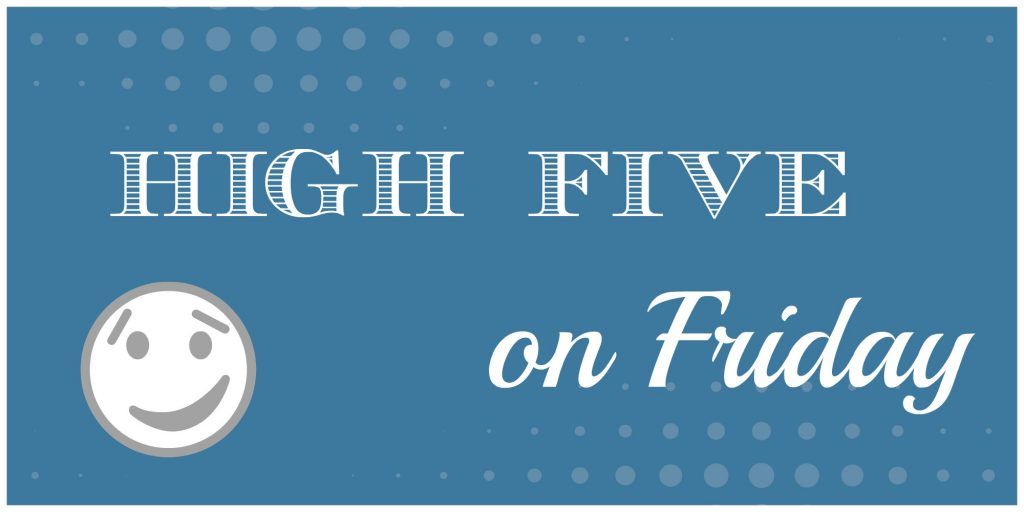 High Five on Friday at frazzled JOY