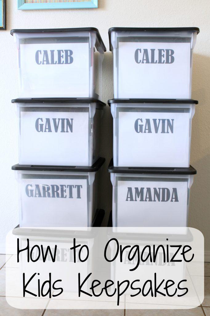 How to Organize Kids Keepsakes