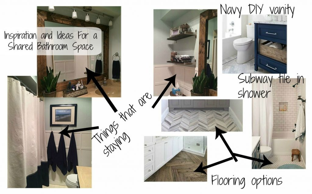 Inspiration and ideas for a shared bathroom space