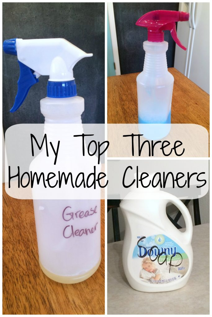 The three homemade cleaners that I use in my home every week