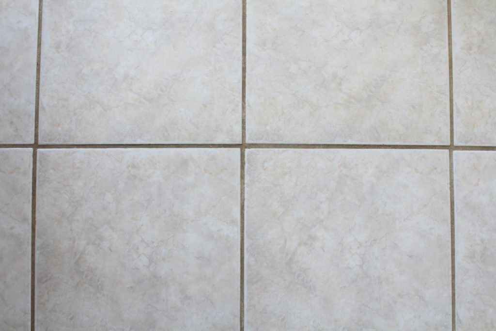 dingy grout after cleaning