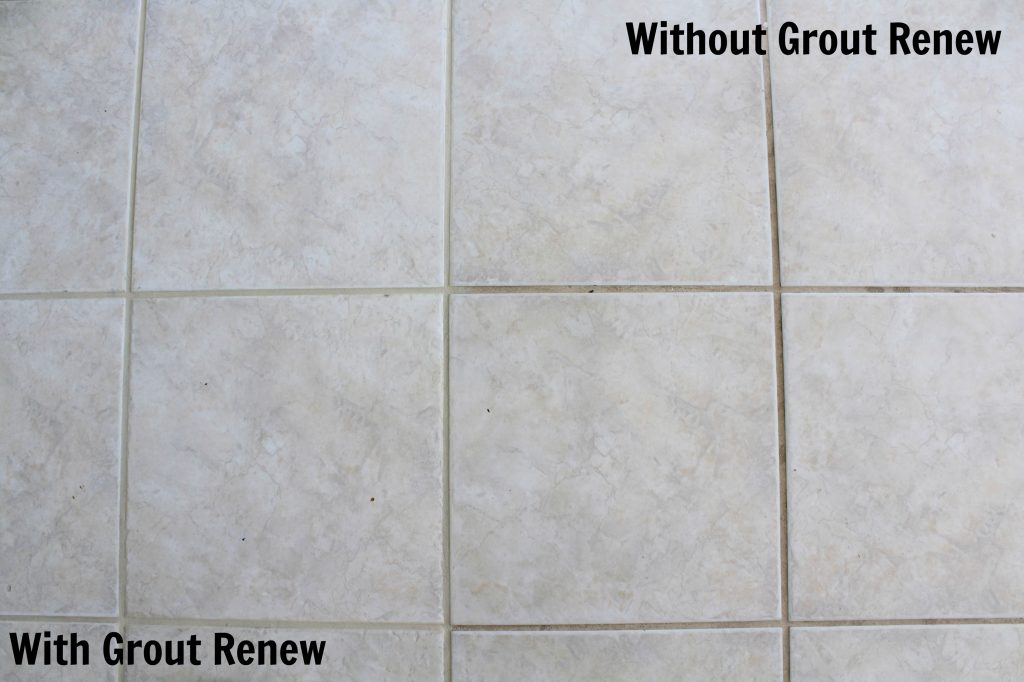 How to make your tile floor look like new again frazzled joy for How to make grout white again