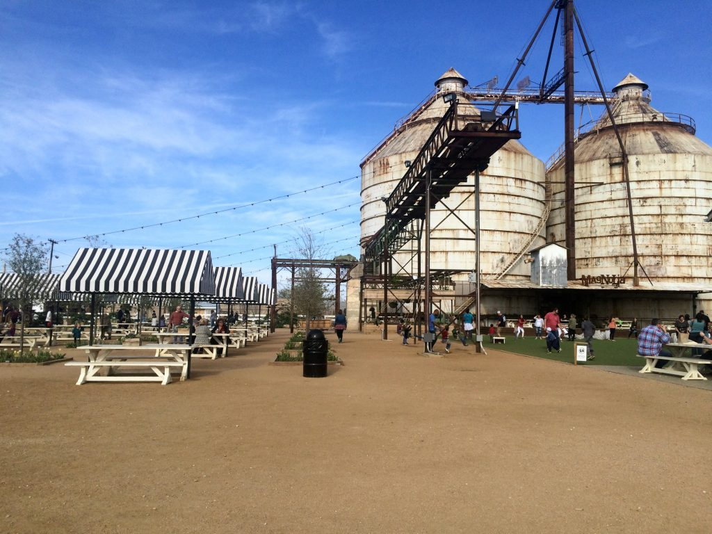 grounds at Magnolia silos