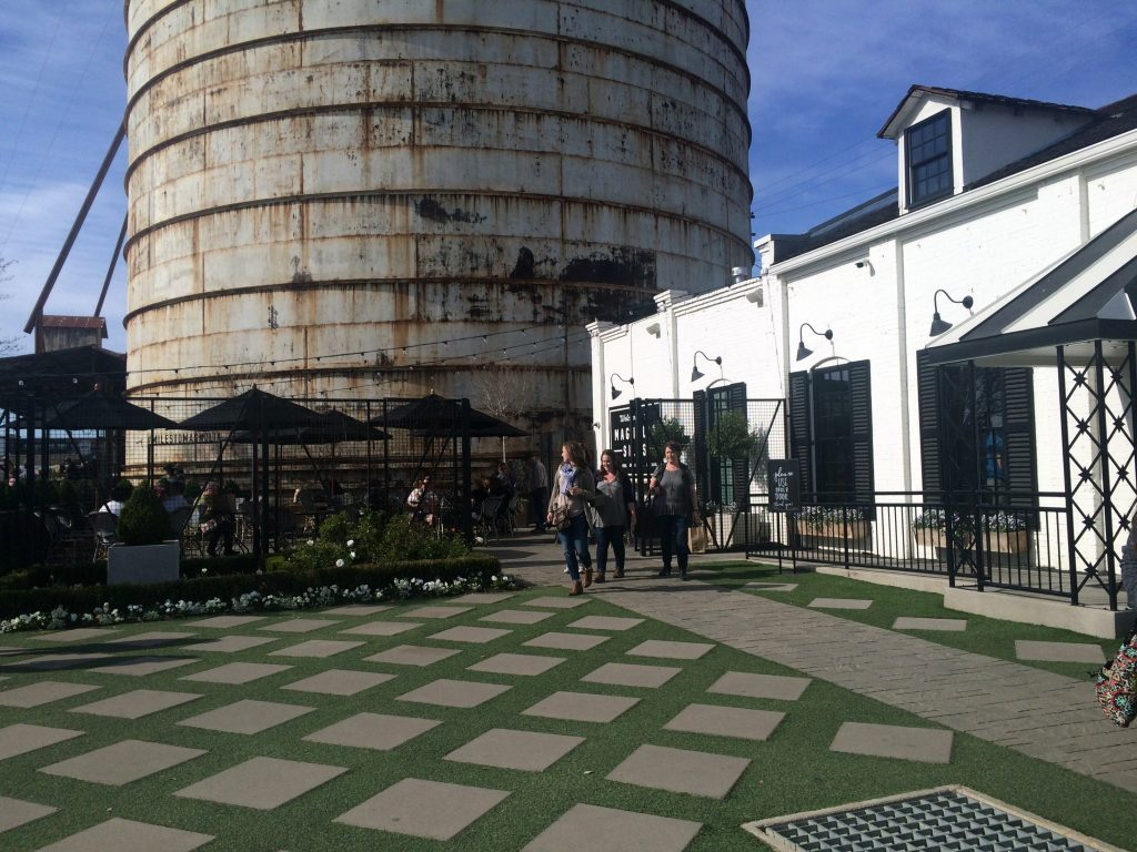 patio at Magnolia silos