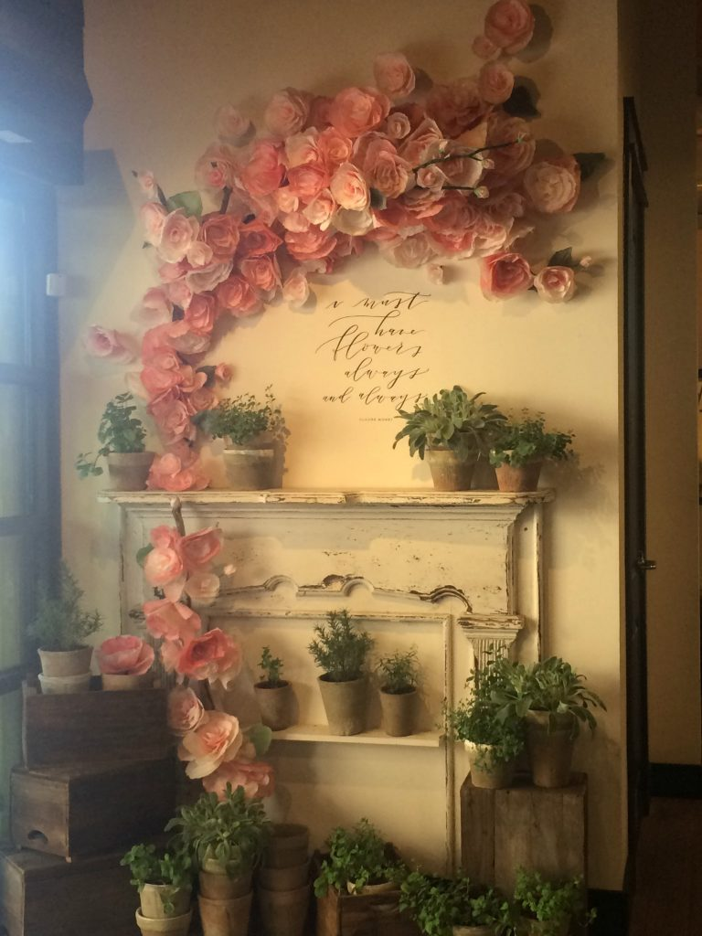 flower display at Magnolia Market