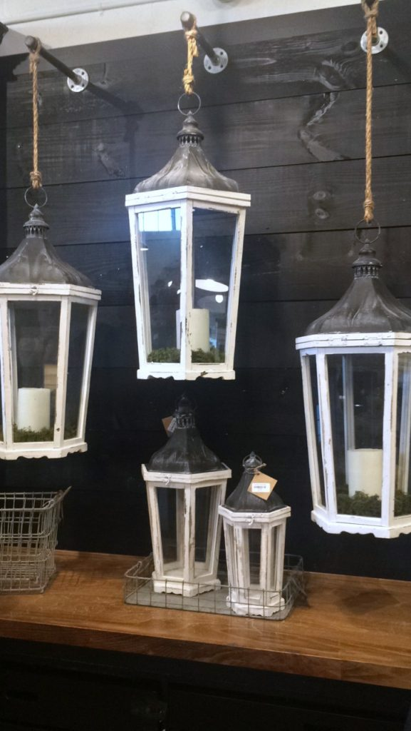 lantern display at Magnolia Market