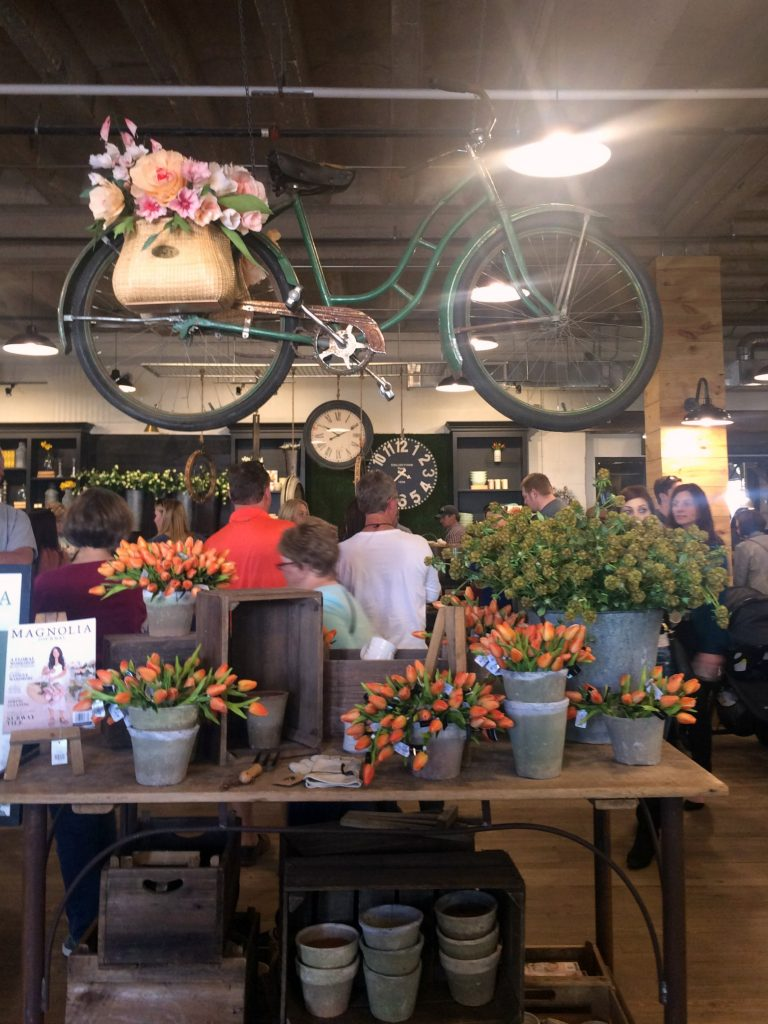 front entry bicycle display at Magnolia Market
