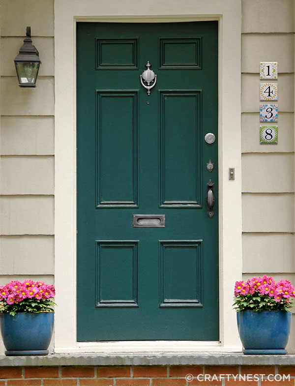 deep teal front door