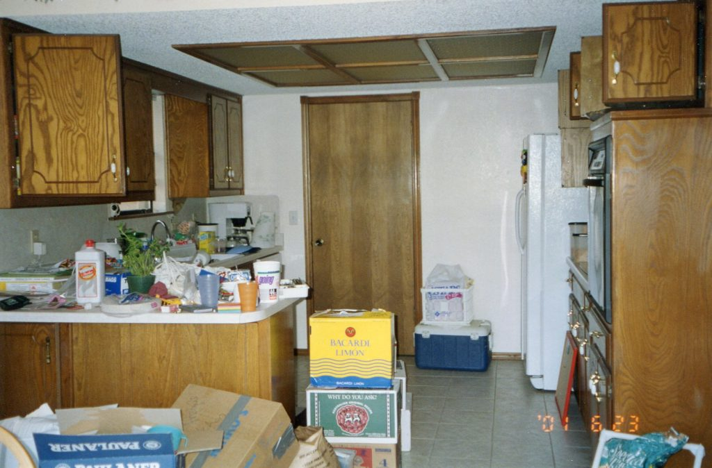 kitchen before on move in day