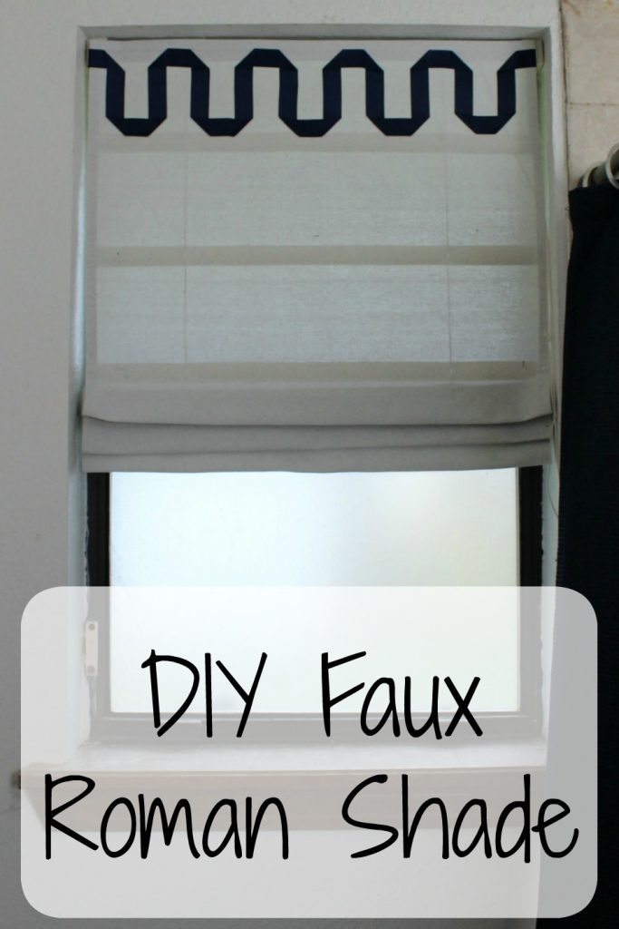 DIY Faux Roman Shade