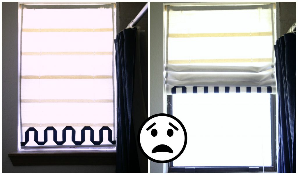 DIY Faux roman shade mistake