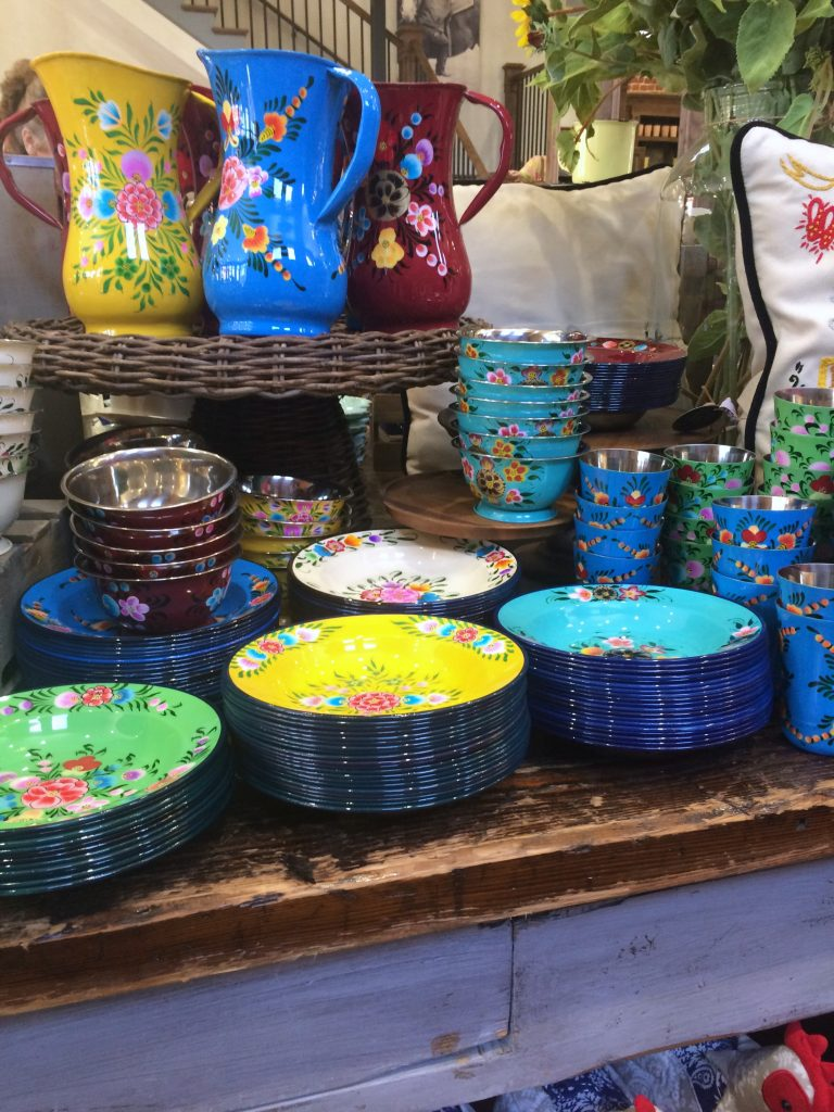 Floral dishes at the Pioneer Woman Mercantile