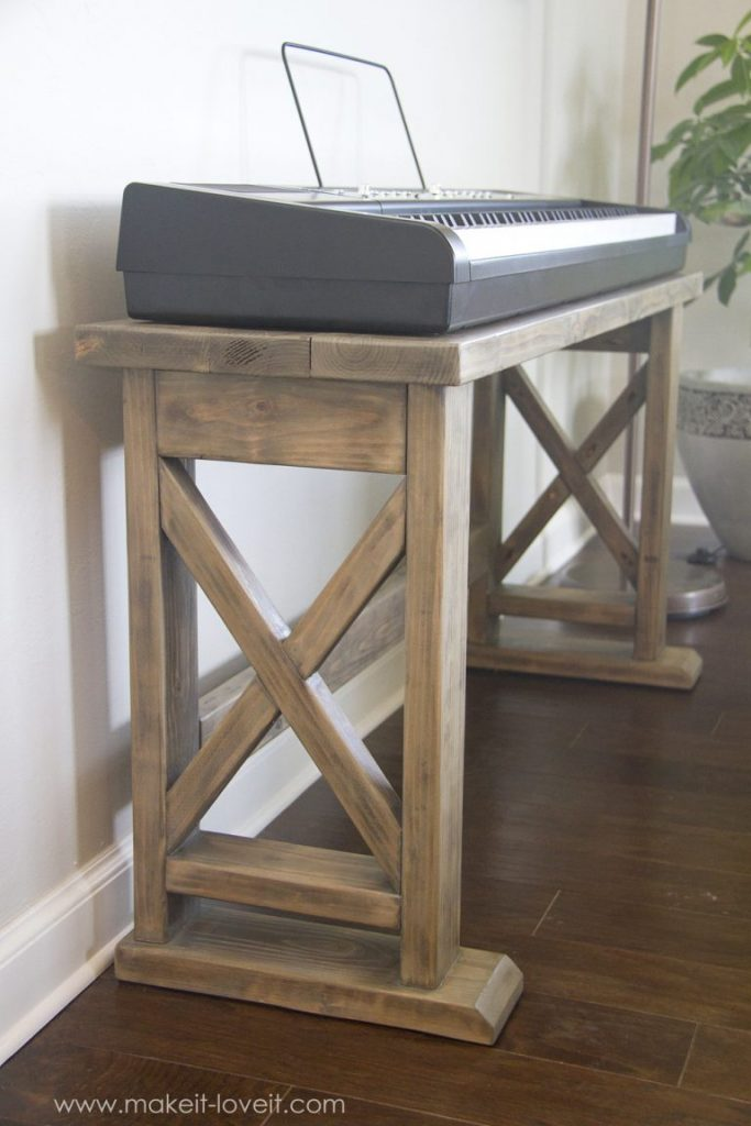farmhouse style keyboard stand