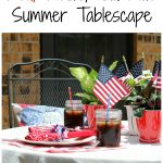 Red, White, and Blue Summer Tablescape