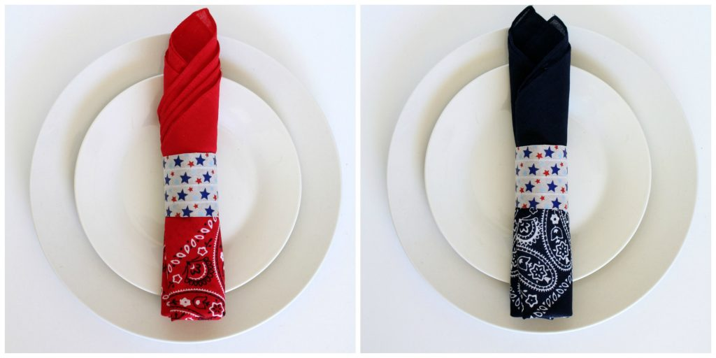 paper towel tube napkin rings DIY