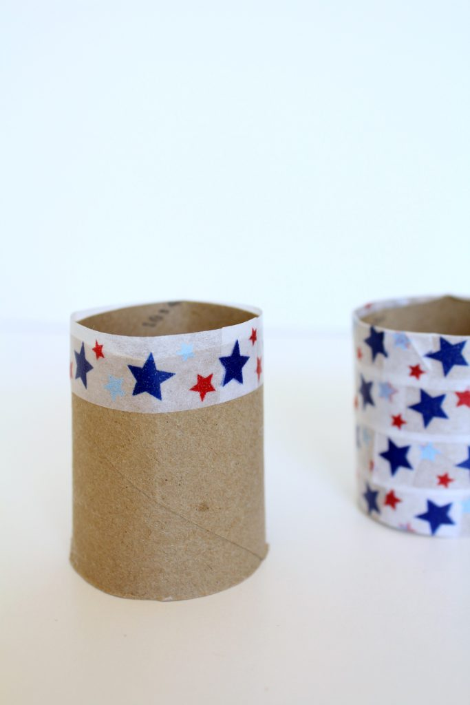 paper tape and paper towel tube napkin rings