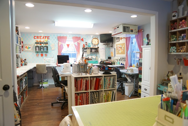 The Little Green Bean craft room