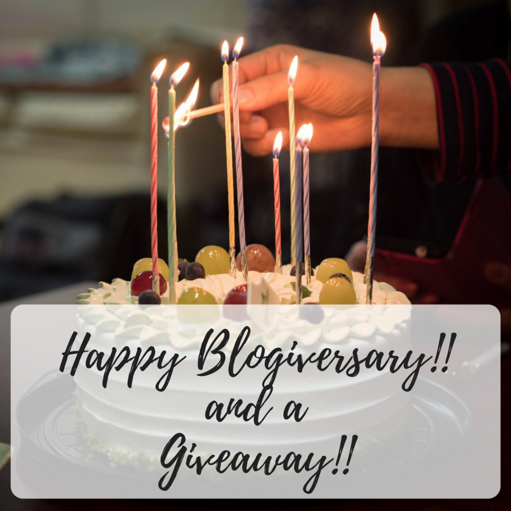Happy blogiversary giveaway
