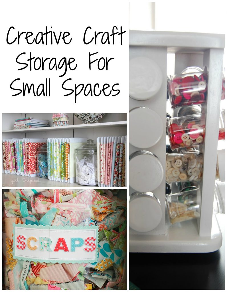 Craft supply storage for small spaces frazzled joy - Clever storage for small spaces pict ...
