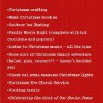 December 2012 Bucket List