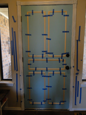 Adding molding to flat interior doors