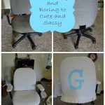Desk Chair Transformation {from ugly and boring to cute and sassy}
