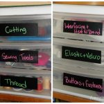 Craft Closet Organized {and labeled}