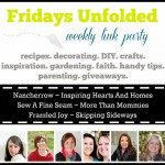 Fridays Unfolded Link Party {#134}