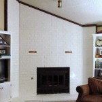 Painted Brick Fireplace Surround